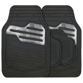 Rubber automatten set universeel - Zwart / Carbon grijs 1