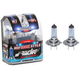 Xenonlook lampen Halogeen 'HID Style' H7 (6000K) Hyperwhite 12V/55W, set à 2 stuks ECE-R37