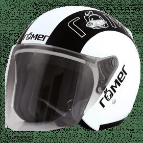 Motorhelm Raceline wit/zwart