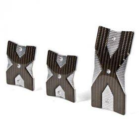 Pedaalset aluminium X-type met rubber